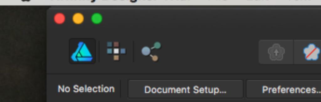 Voici une capture d'écran des trois boutons des personas