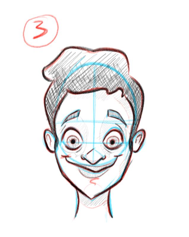 Dernière étape pour dessiner des visages de face