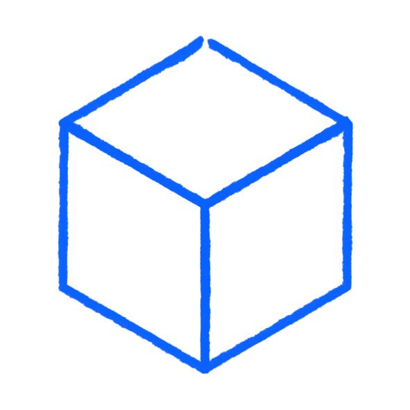 schéma explicatif de la perspective isométrique