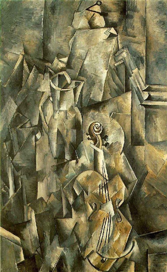 peinture de georges Braque du cubisme analytique