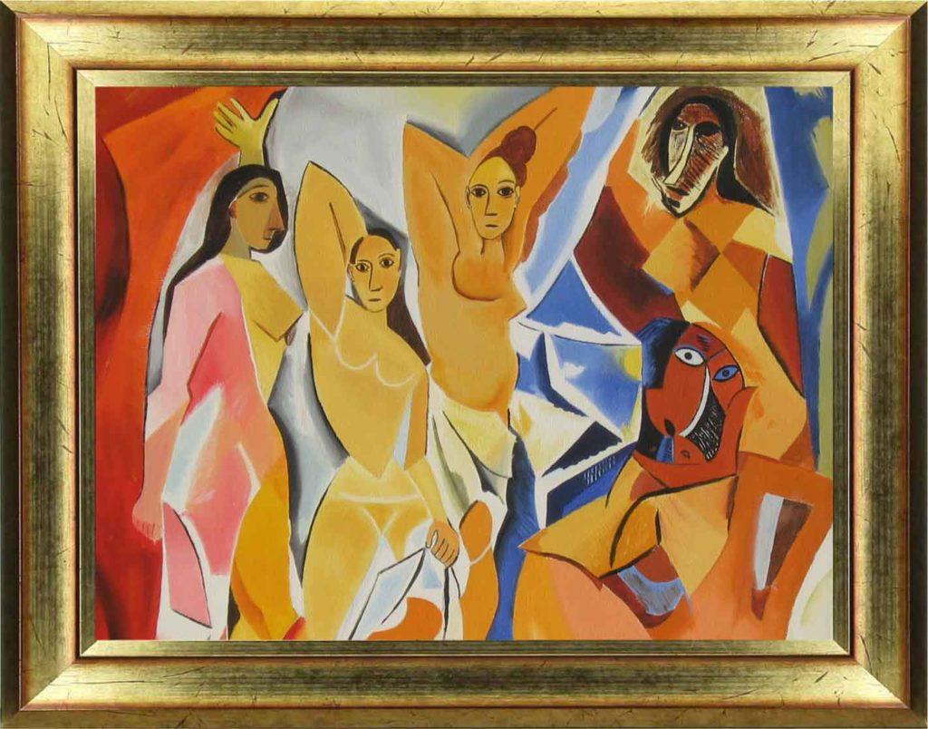 La première oeuvre du cubisme , Les demoiselles d'Avignon