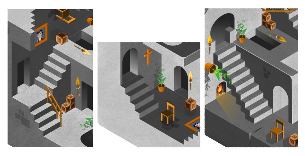 Détails de mon interprétation de Gravity d'Escher