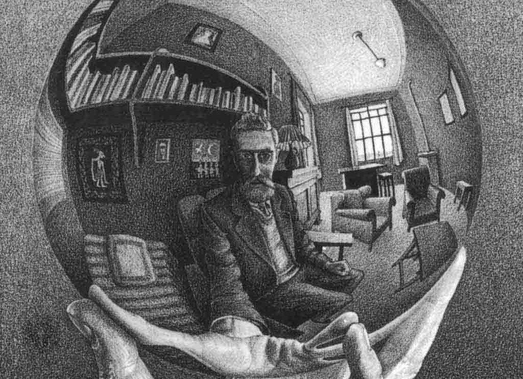 Introduction à l 'autoportrait d'Escher reflète dans une sphère