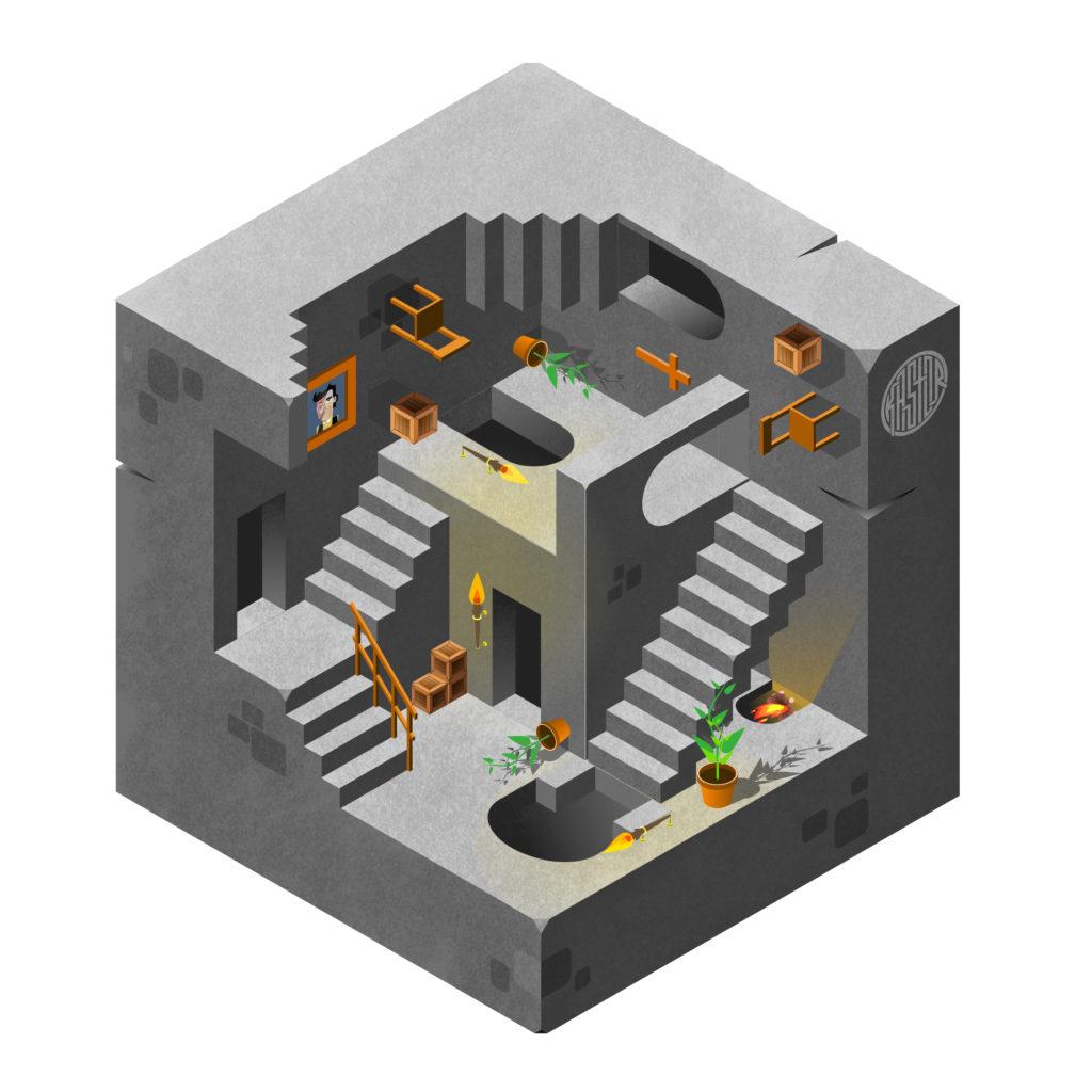 Gravities , mon interprétation de Relativity d'Escher
