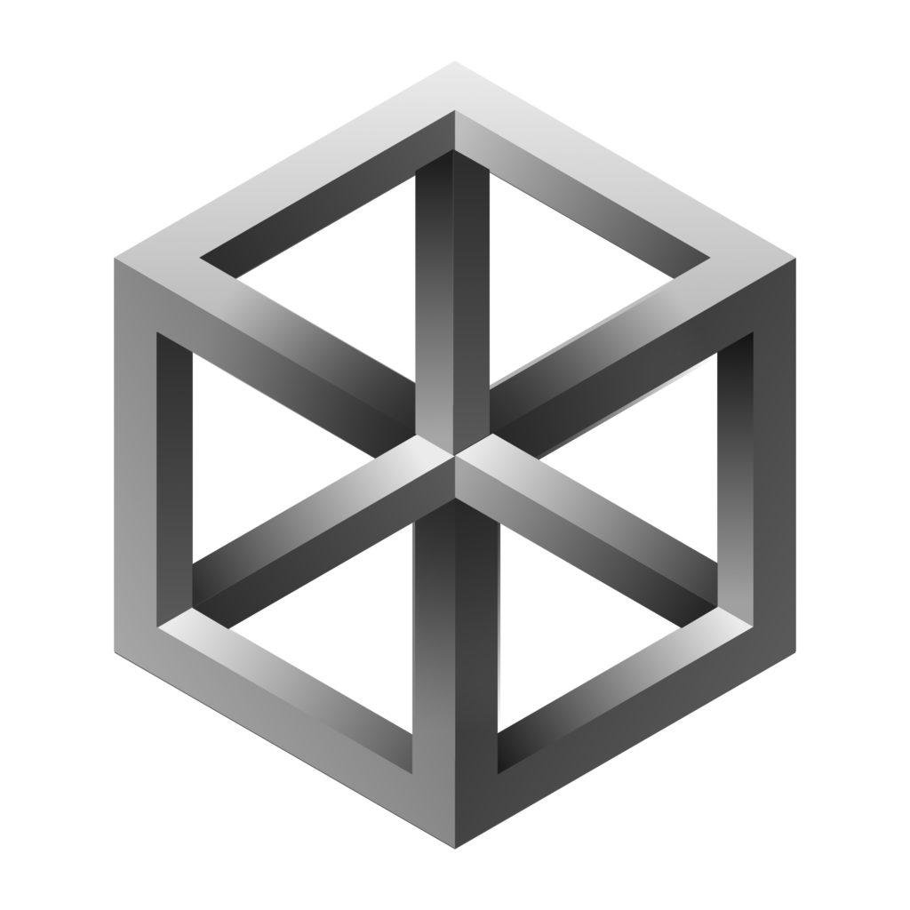 Cube de Necker d' Escher