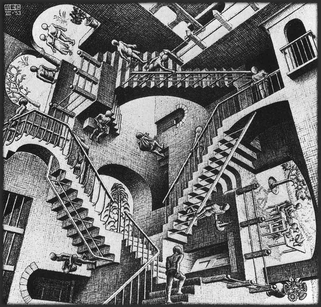 Relativity , une des oeuvres les plus emblématique d'Escher
