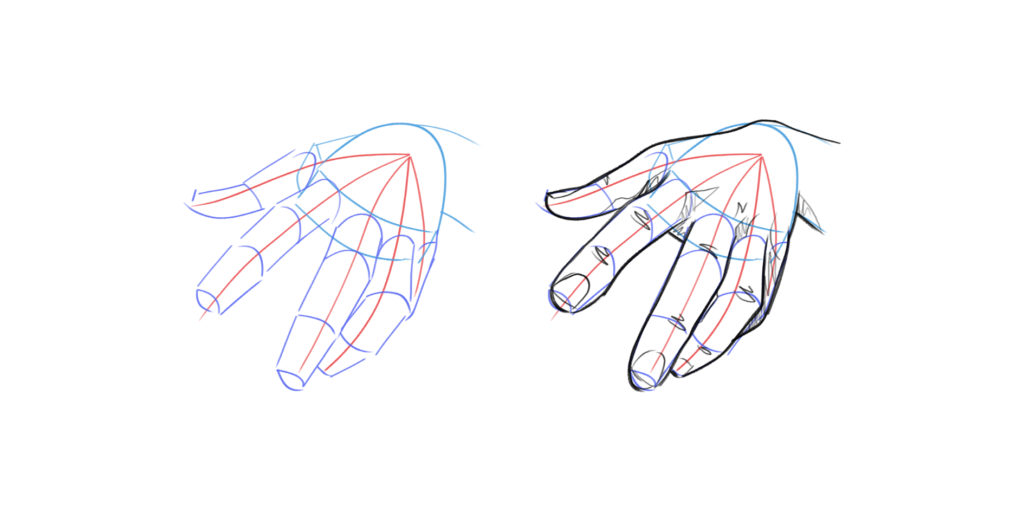 dessiner une main en perspective