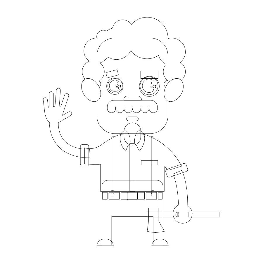créer un perso simple avec affinity designer