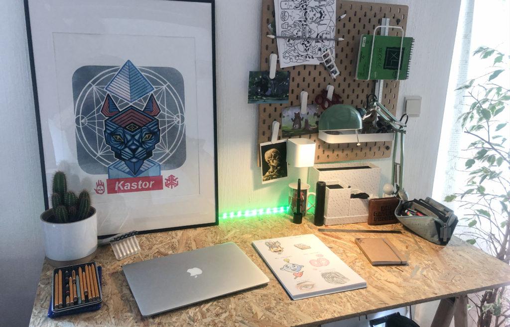 Studio d'artiste inspirant