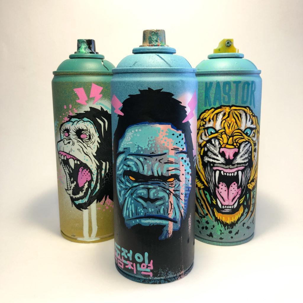 je recycle mes bombes de couleurs vides