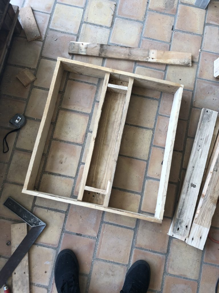 Fabrication d' une table